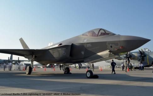 075 Lockheed Martin F-35A Lightning II ''14-5107'' USAF © Michel Anciaux
