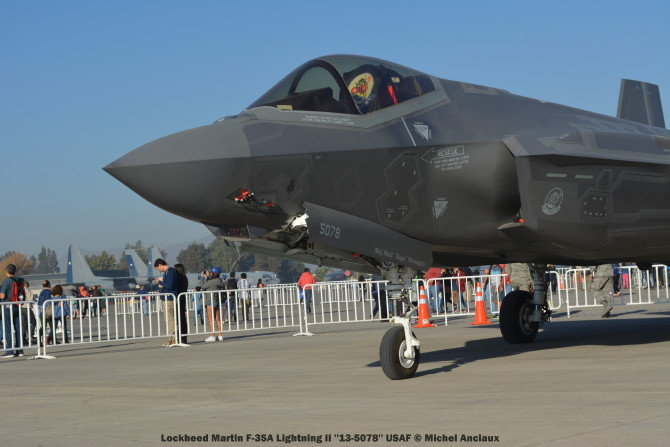 083 Lockheed Martin F-35A Lightning II ''13-5078'' USAF © Michel Anciaux