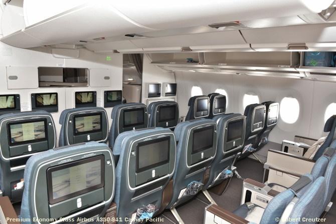 13 Premium Economy Class Airbus A350-941 Cathay Pacific © Hubert Creutzer
