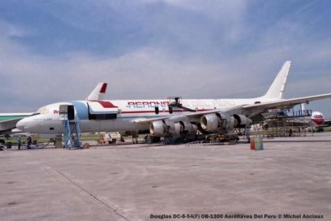 img605 Douglas DC-8-54(F) OB-1300 Aeronaves Del Peru © Michel Anciaux