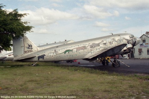 img644 Douglas DC-3C-S4C4G N130D Florida Air Cargo © Michel Anciaux