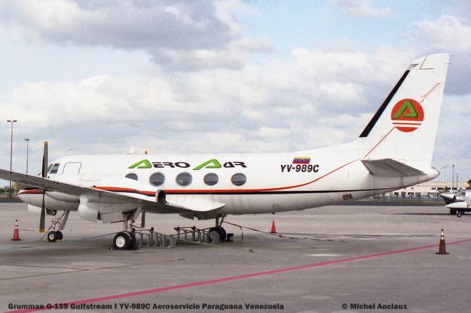 img677 Grumman G-159 Gulfstream I YV-989C Aeroservicio Paraguana Venezuela © Michel Anciaux