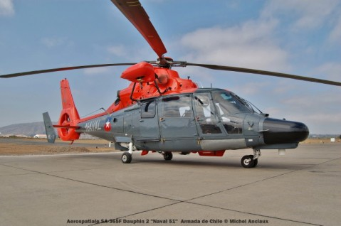 026 Aerospatiale SA-365F Dauphin 2 ''Naval 51'' Armada de Chile © Michel Anciaux