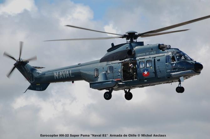 043 Eurocopter HH-32 Super Puma ''Naval 81'' Armada de Chile © Michel Anciaux