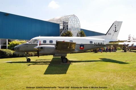 055 Embraer 110CN Bandeirante ''Naval 108'' Armada de Chile © Michel Anciaux