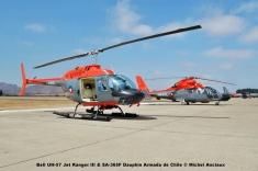 49 Bell UH-57 Jet Ranger III & SA-365F Dauphin Armada de Chile © Michel Anciaux