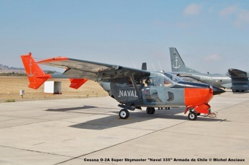 51 Cessna O-2A Super Skymaster ''Naval 335'' Armada de Chile © Michel Anciaux