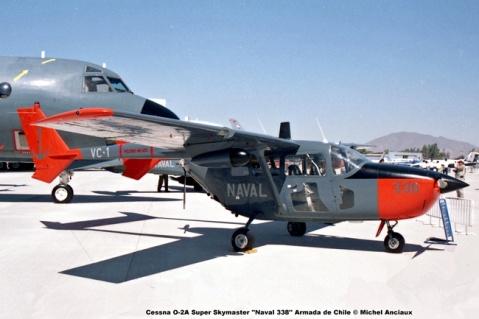 DSC_0002 Cessna O-2A Super Skymaster ''Naval 338'' Armada de Chile © Michel Anciaux