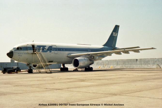 02 Airbus A300B1 OO-TEF Trans European Airways © Michel Anciaux