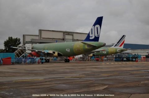 032 Airbus A320 n°5809 for Go Air & 5802 for Air France © Michel Anciaux