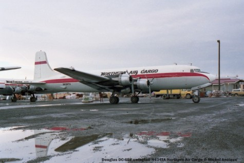 057 Douglas DC-6BF swingtail N434TA Northern Air Cargo © Michel Anciaux