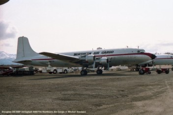 060 Douglas DC-6BF swingtail N867TA Northern Air Cargo © Michel Anciaux