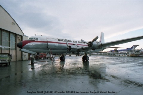 067 Douglas DC-6A (C-118A) Liftmaster N313RS Northern Air Cargo © Michel Anciaux