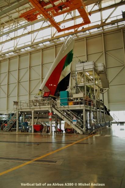 072 Vertical tail of an Airbus A380 © Michel Anciaux