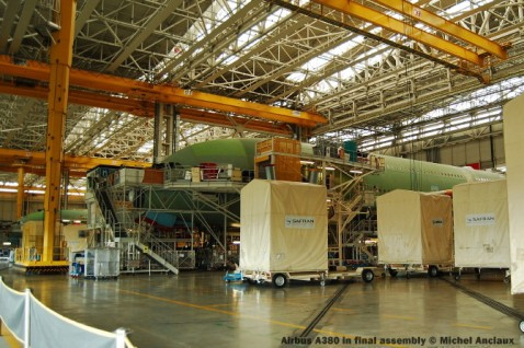 077 Airbus A380 in final assembly © Michel Anciaux