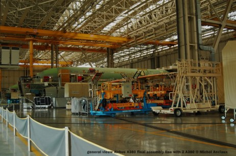 081 general vieuw Airbus A380 final assembly line with 2 A380 © Michel Anciaux