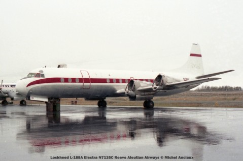 093 Lockheed L-188A Electra N7135C Reeve Aleutian Airways © Michel Anciaux