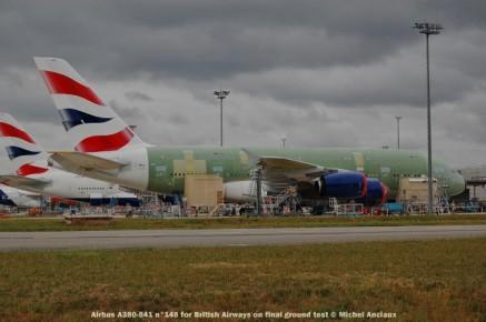 099 Airbus A380-841 n°148 for British Airways on final ground test © Michel Anciaux