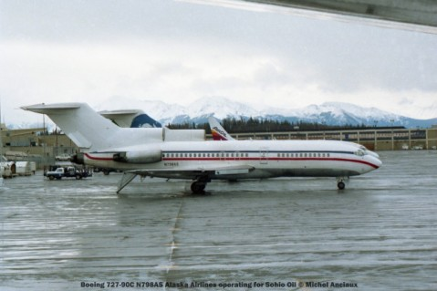 105 Boeing 727-90C N798AS Alaska Airlines operating for Sohio Oil © Michel Anciaux