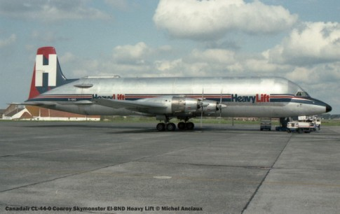 img580 Canadair CL-44-0 Conroy Skymonster EI-BND Heavy Lift © Michel Anciaux
