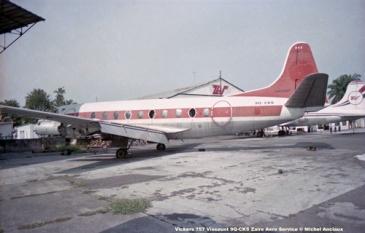 img01 Vickers 757 Viscount 9Q-CKS Zaire Aero Service © Michel Anciaux