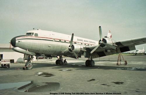 img03 Douglas C-54B Swing Tail 9Q-CBG Zaire Aero Service © Michel Anciaux