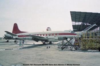 img04 Vickers 757 Viscount 9Q-CKS Zaire Aero Service © Michel Anciaux