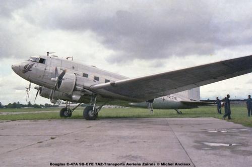 img08 Douglas C-47A 9Q-CYE TAZ-Transports Aeriens Zairois © Michel Anciaux