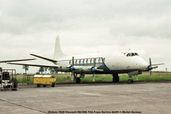 img10 Vickers 782D Viscount 9Q-CKK TSA-Trans Service Airlift © Michel Anciaux