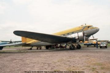 img100 Douglas C-47A 9Q-CYC TAZ-Transports Aeriens Zairois © Michel Anciaux