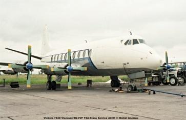 img11 Vickers 754D Viscount 9Q-CVF TSA-Trans Service Airlift © Michel Anciaux