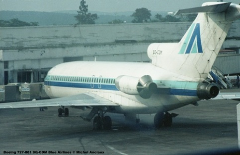 img129 Boeing 727-081 9Q-CDM Blue Airlines © Michel Anciaux