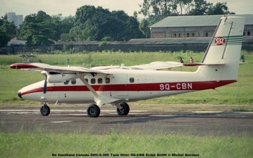 img149 De Havilland Canada DHC-6-300 Twin Otter 9Q-CBN Scibe Airlift © Michel Anciaux
