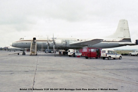 img15 Bristol 175 Britannia 312F 9Q-CHY BCF-Business Cash Flow Aviation © Michel Anciaux