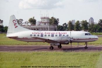img156 Convaitr 580 9Q-CEJ CAA Compagnie Africaine d'Aviation © Michel Anciaux