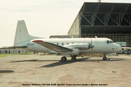 img163 Hawker Siddeley 748-209 Sr2A 9Q-CST Trans Service Airlift © Michel Anciaux