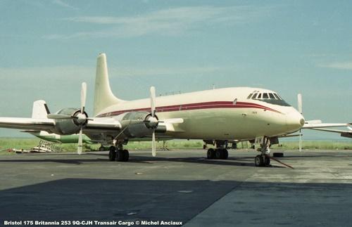 img165 Bristol 175 Britannia 253 9Q-CJH Transair Cargo © Michel Anciaux