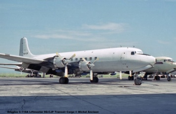 img166 Douglas C-118A Liftmaster 9Q-CJP Transair Cargo © Michel Anciaux