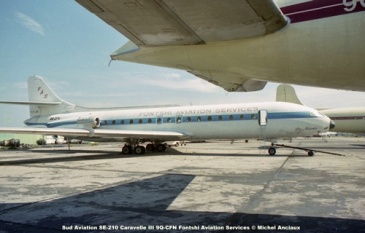 img170 Sud Aviation SE-210 Caravelle III 9Q-CFN Fontshi Aviation Services © Michel Anciaux