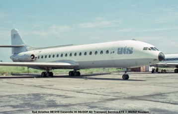 img171 Sud Aviation SE-210 Caravelle III 9Q-CCP Air Transport Service-ATS © Michel Anciaux