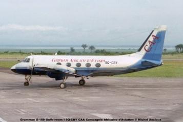 img183 Grumman G-159 Gulfstream I 9Q-CBY CAA Compagnie Africaine d'Aviation © Michel Anciaux