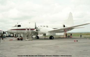 img185 Convair CV-580 9Q-CRU CAA Compagnie Africaine d'Aviation © Michel Anciaux