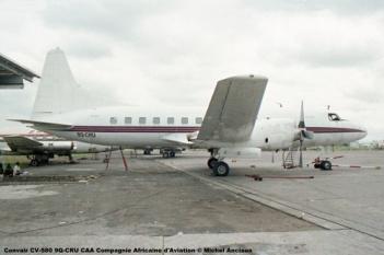 img195 Convair CV-580 9Q-CRU CAA Compagnie Africaine d'Aviation © Michel Anciaux