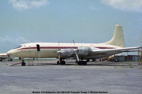 img228 Bristol 175 Britannia 253 9Q-CJH Transair Cargo © Michel Anciaux