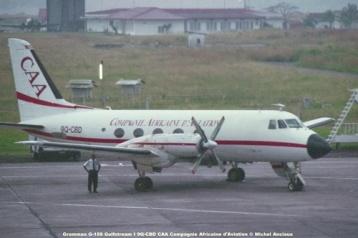 img240 Grumman G-159 Gulfstream I 9Q-CBD CAA Compagnie Africaine d'Aviation © Michel Anciaux