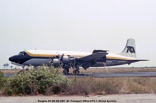 img253 Douglas DC-6B 9Q-CRH Air Transport Office-ATO © Michel Anciaux