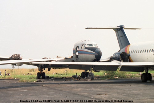 img312 Douglas DC-6A ex 9Q-CPK Filair & BAC 111-501EX 9Q-CKP Express City © Michel Anciaux