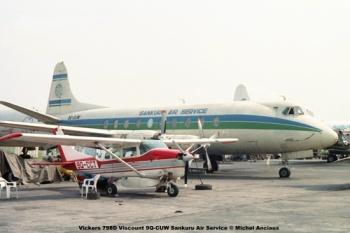 img318 Vickers 798D Viscount 9Q-CUW Sankuru Air Service © Michel Anciaux