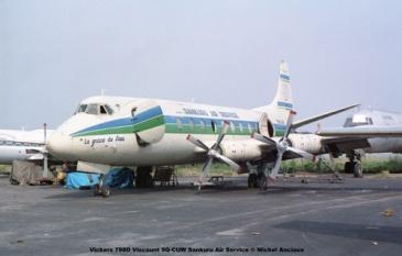 img319 Vickers 798D Viscount 9Q-CUW Sankuru Air Service © Michel Anciaux