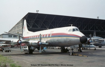 img326 Vickers 757 Viscount 9Q-CTU Filair © Michel Anciaux